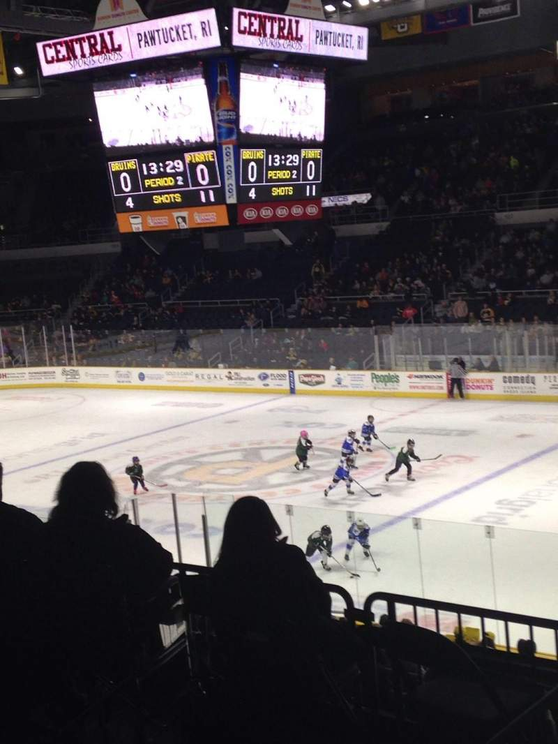Seating view for Dunkin' Donuts Center Section 119 Row A Seat 5