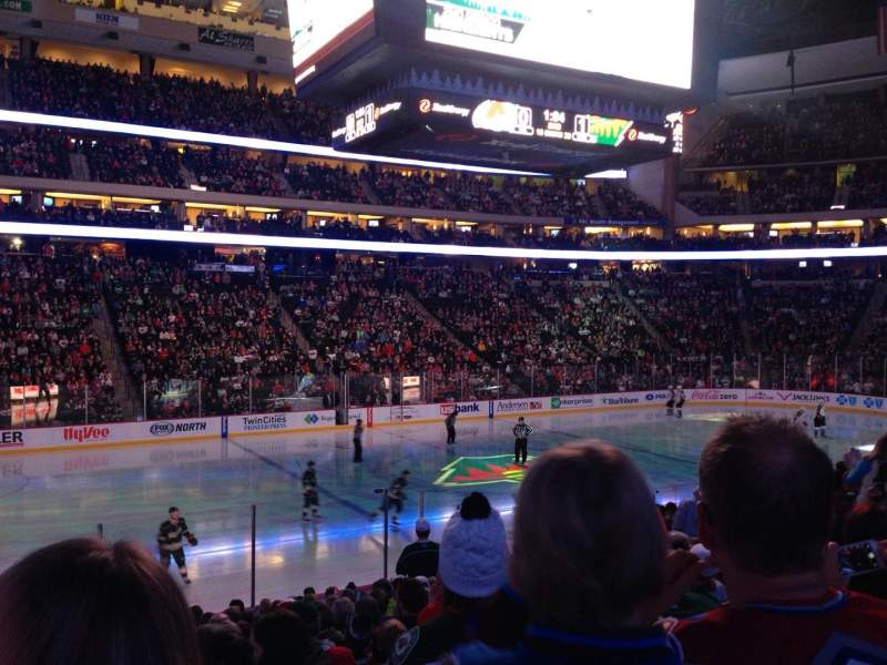 Seating view for Xcel Energy Center Section 118 Row 17 Seat 12