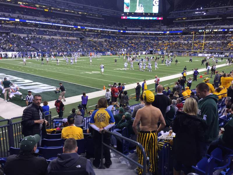 Seating view for Lucas Oil Stadium Section 148 Row 11 Seat 2