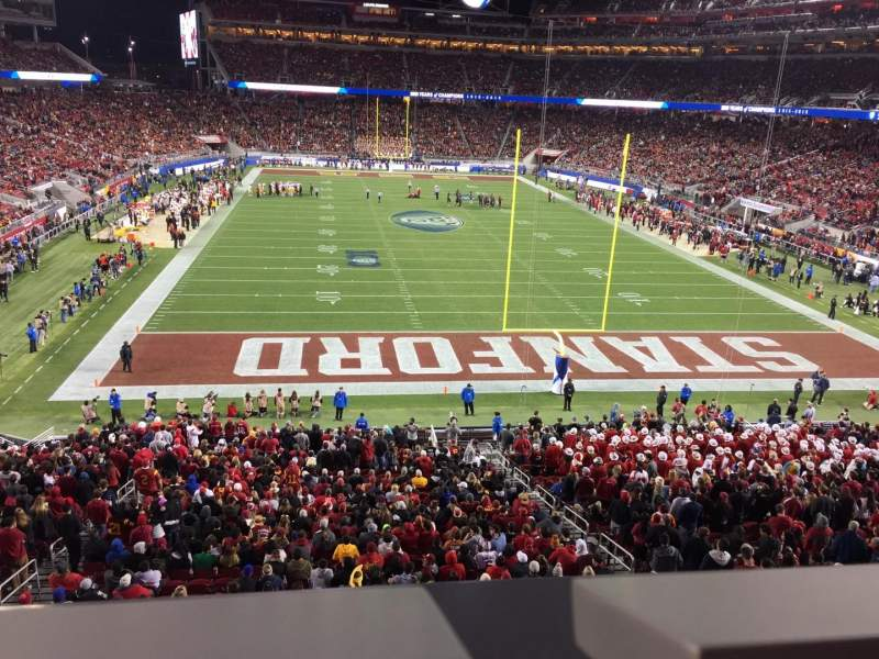 Seating view for Levi's Stadium Section 230 Row 1 Seat 10