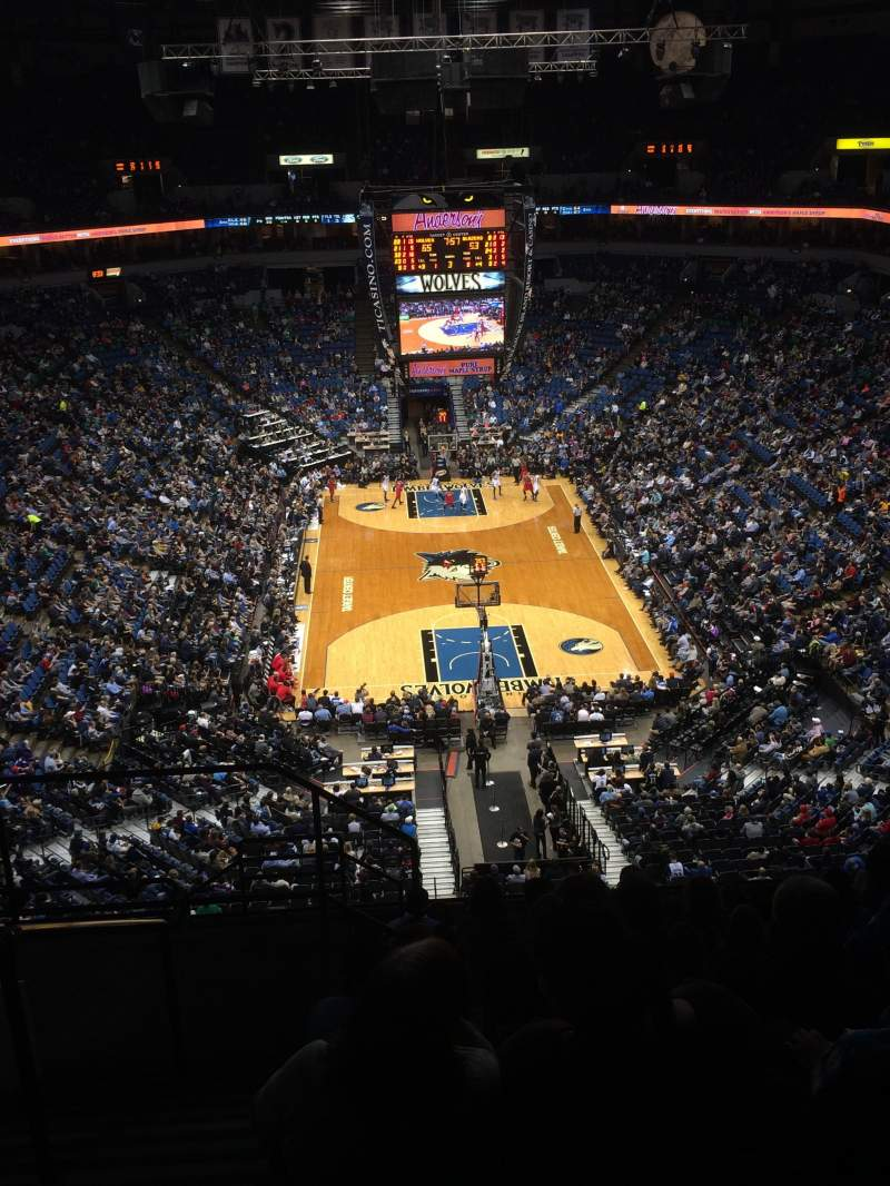 Seating view for Target Center Section 222 Row M Seat 14