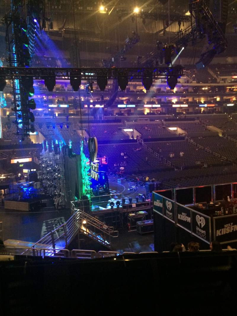 Seating view for Staples Center Section 114 Row 18W Seat 5