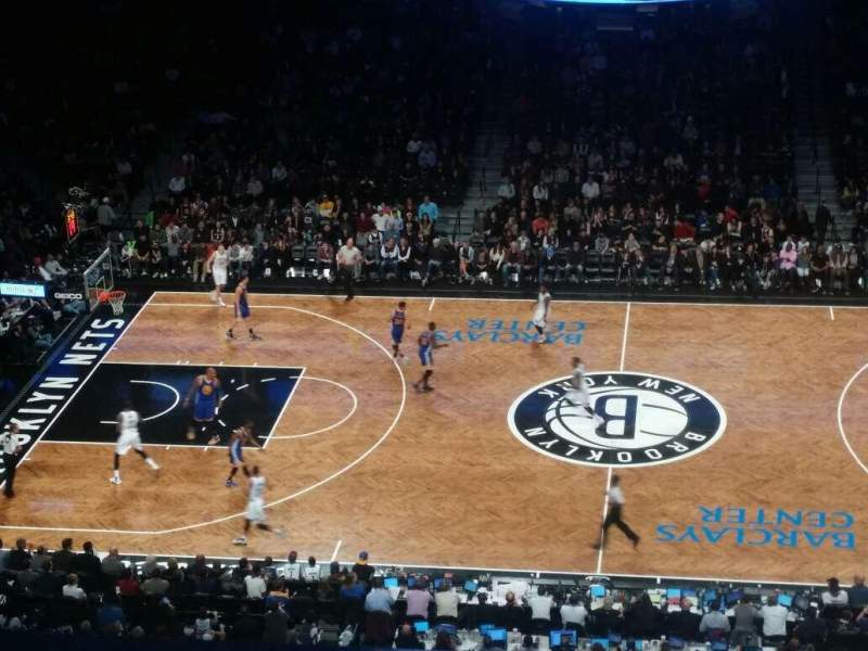Seating view for Barclays Center Section 207 Row 1 Seat 25