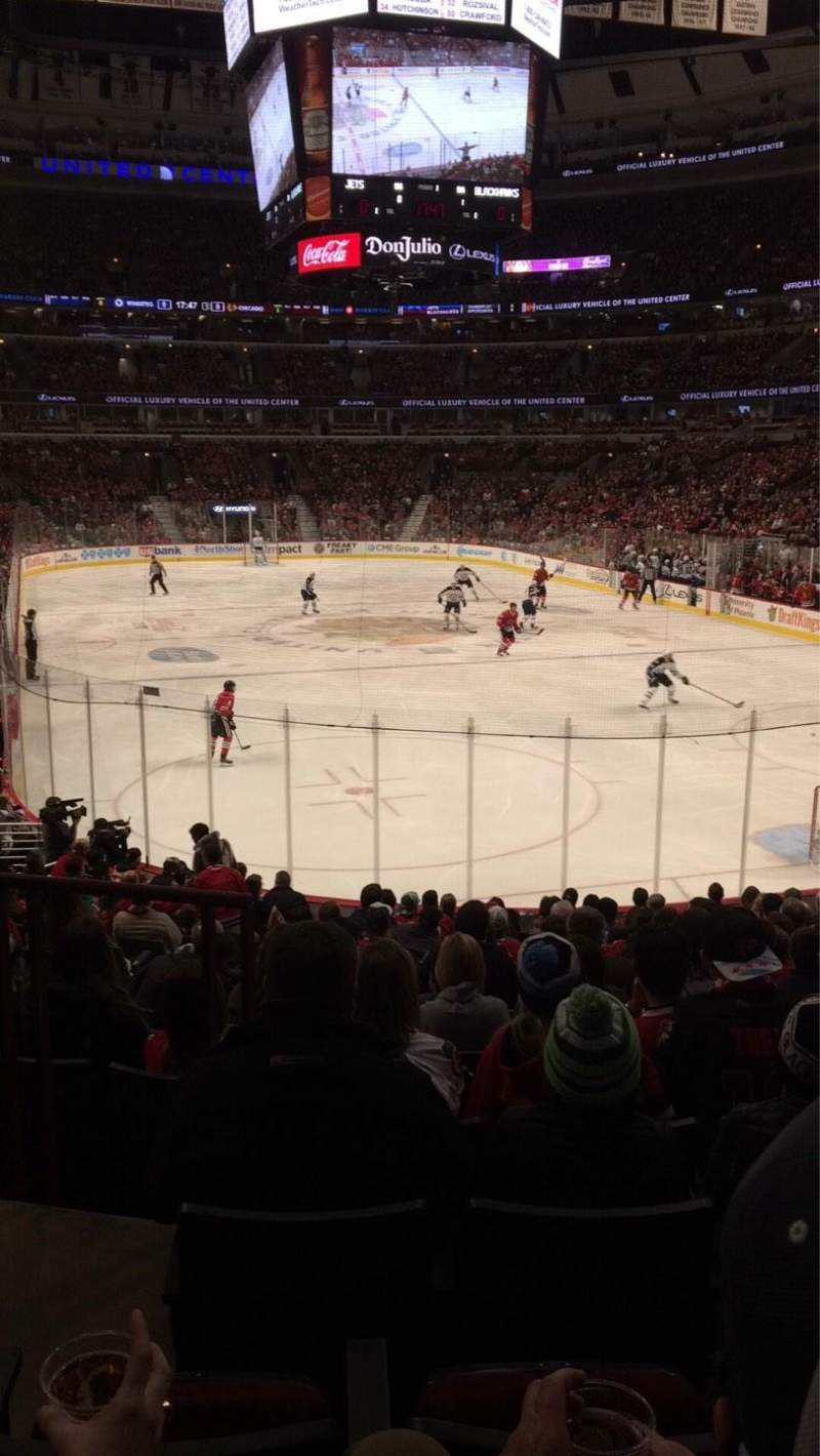 Seating view for United Center Section 107 Row 17 Seat 13