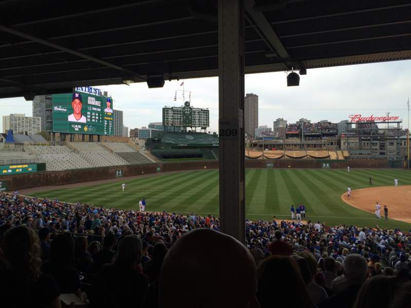 Seating view for Wrigley Field Section 209 Row 13 Seat 6