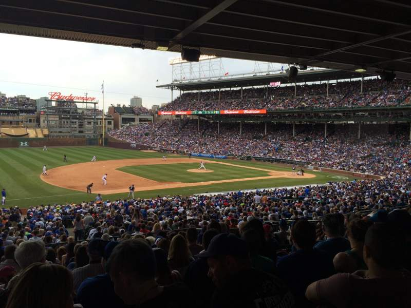 wrigley field section 209 row 13 home of chicago cubs
