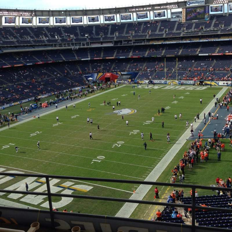 Seating view for Qualcomm Stadium Section T56 Row 4 Seat 7-8
