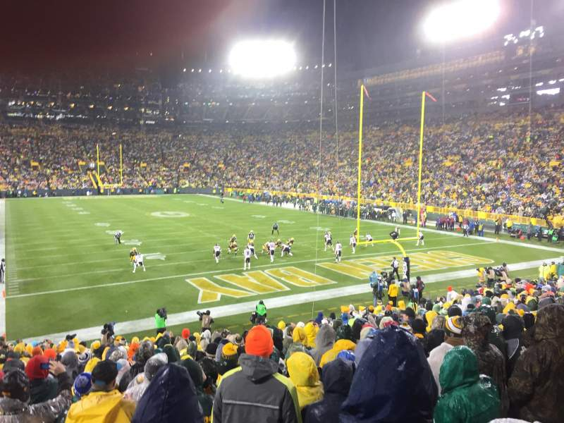 Seating view for Lambeau Field Section 103 Row 26 Seat 8