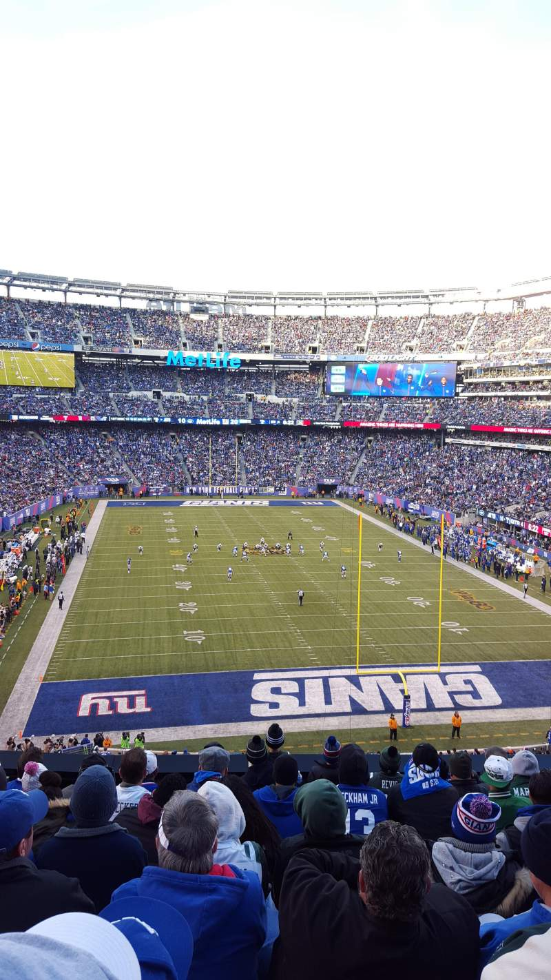 Seating view for MetLife Stadium Section 228A Row 9 Seat 9