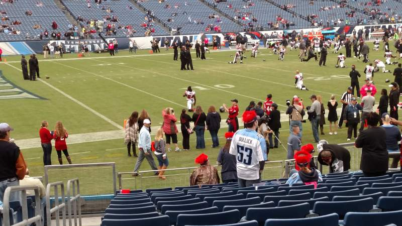 Seating view for Nissan Stadium Section 115 Row Q Seat 15