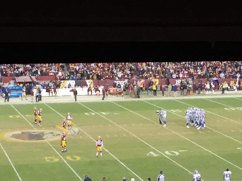 Seating view for FedEx Field Section 222 Row 18 Seat 21