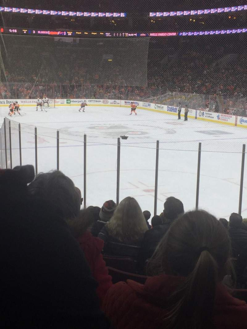 Seating view for Wells Fargo Center Section 105 Row 15 Seat 12