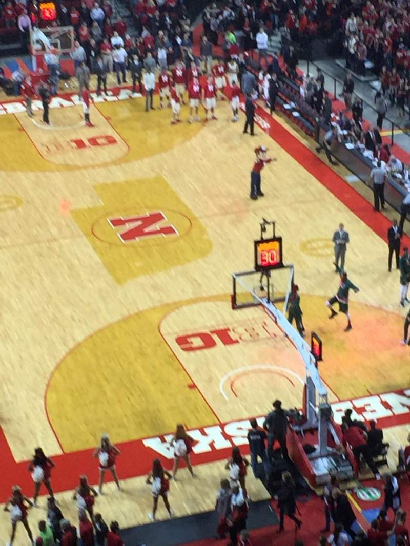 Seating view for Pinnacle Bank Arena Section 313 Row 1 Seat 5