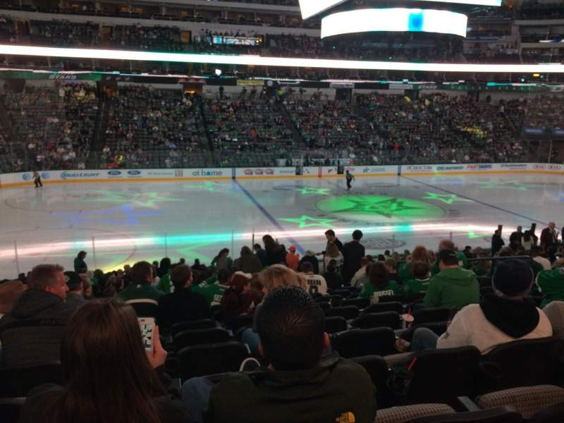 Seating view for American Airlines Center Section 120 Row X Seat 9