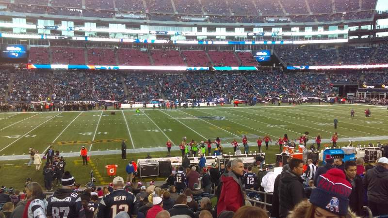 Seating view for Gillette Stadium Section 133 Row 21 Seat 7