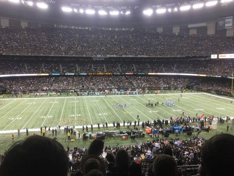 Mercedes Benz Superdome Interactive Football Seating Chart