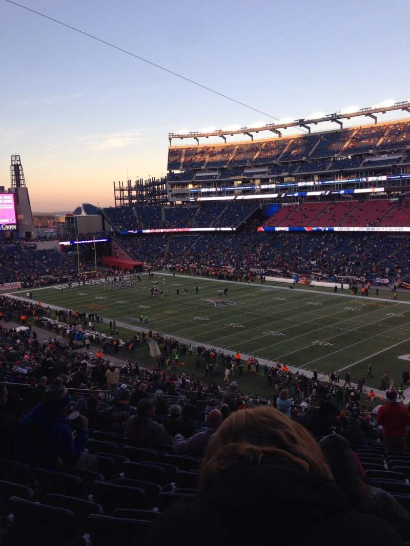 Seating view for Gillette Stadium Section 226 Row 25 Seat 9