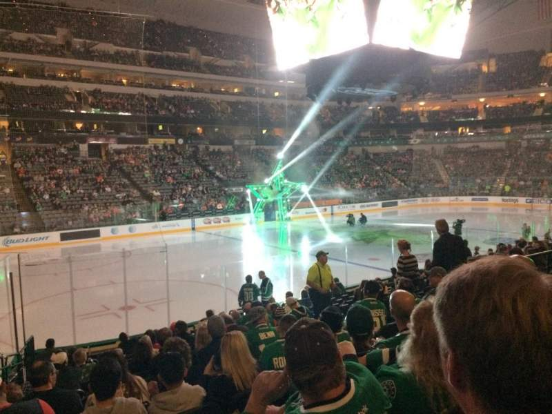 Seating view for American Airlines Center Section 109 Row P Seat 11