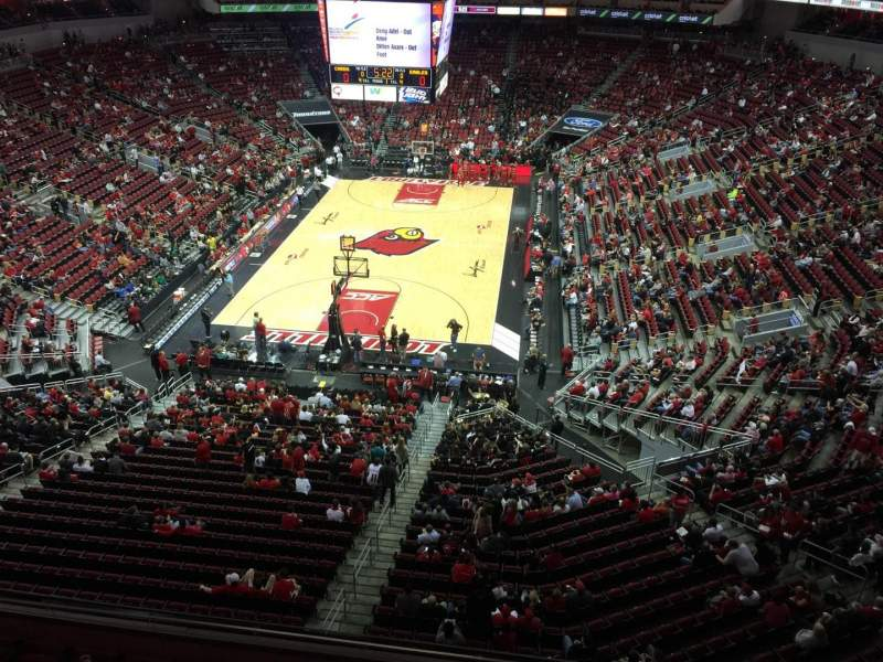Seating view for KFC Yum! Center Section 315 Row A Seat 1