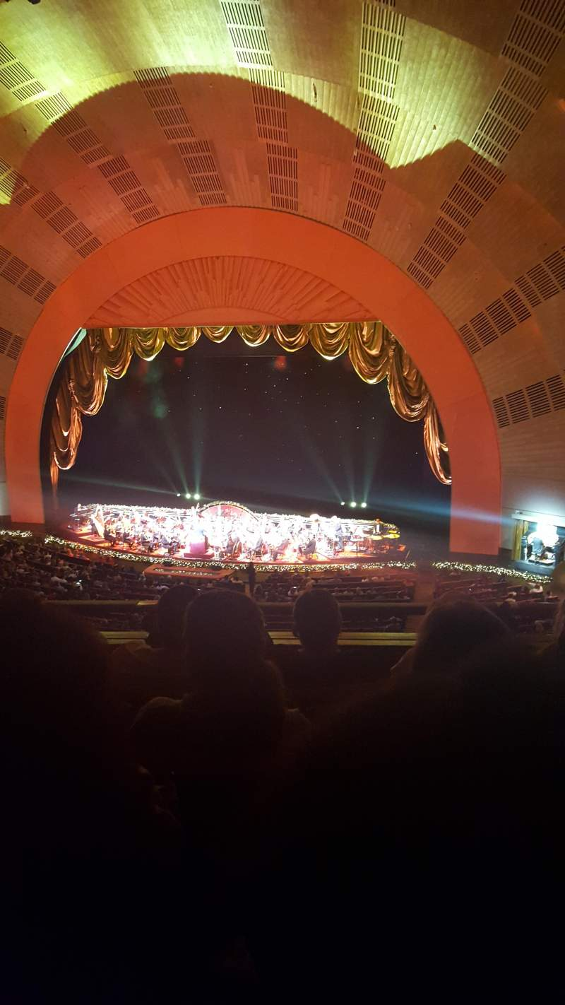 Seating view for Radio City Music Hall Section 2nd mezzanine 2 Row D Seat 206