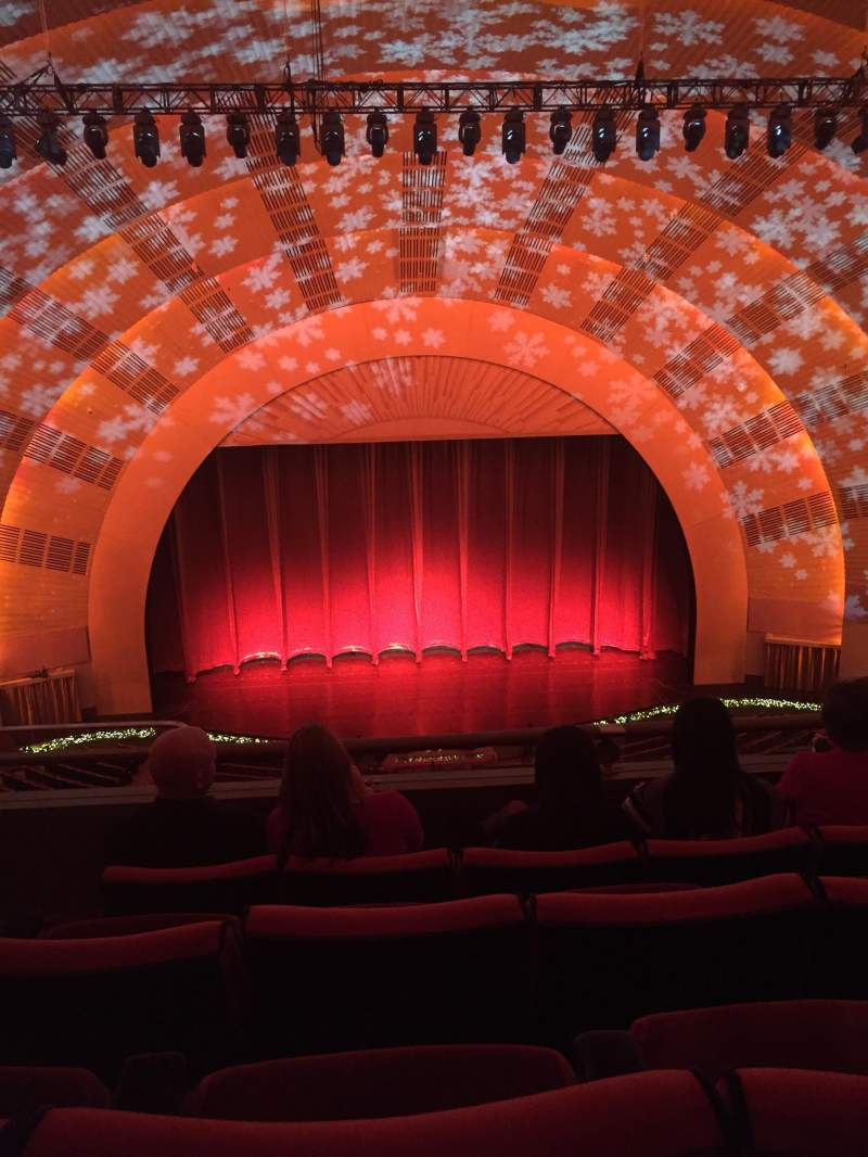 Seating view for Radio City Music Hall Section 3rd mezzanine 4 Row D Seat 413