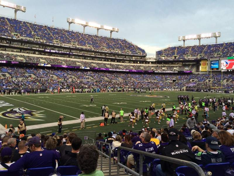 Seating view for M&T Bank Stadium Section 134 Row 16 Seat 1