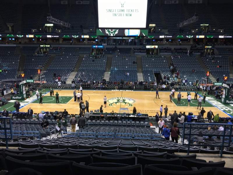 Seating view for BMO Harris Bradley Center Section 200 Row Z Seat 12