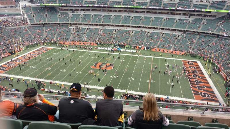 Seating view for Paul Brown Stadium Section 308 Row 17 Seat 9