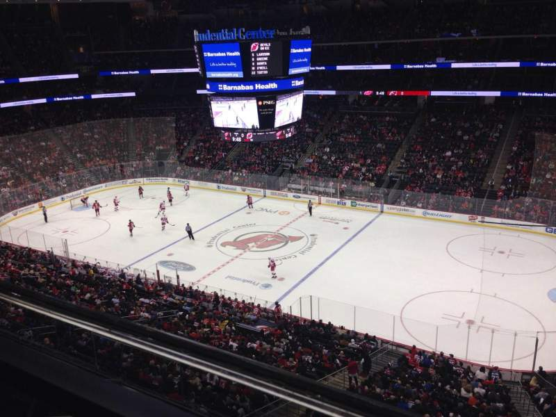 Seating view for Prudential Center Section 114 Row 1 Seat 9