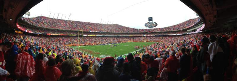 Seating view for Arrowhead Stadium Section 125 Row 32 Seat 2
