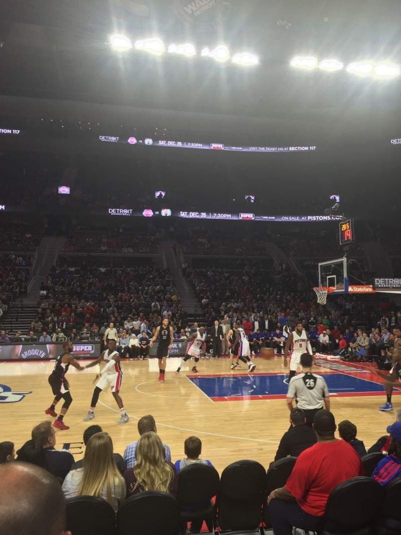 Seating view for The Palace of Auburn Hills Section 126 Row BB Seat 12