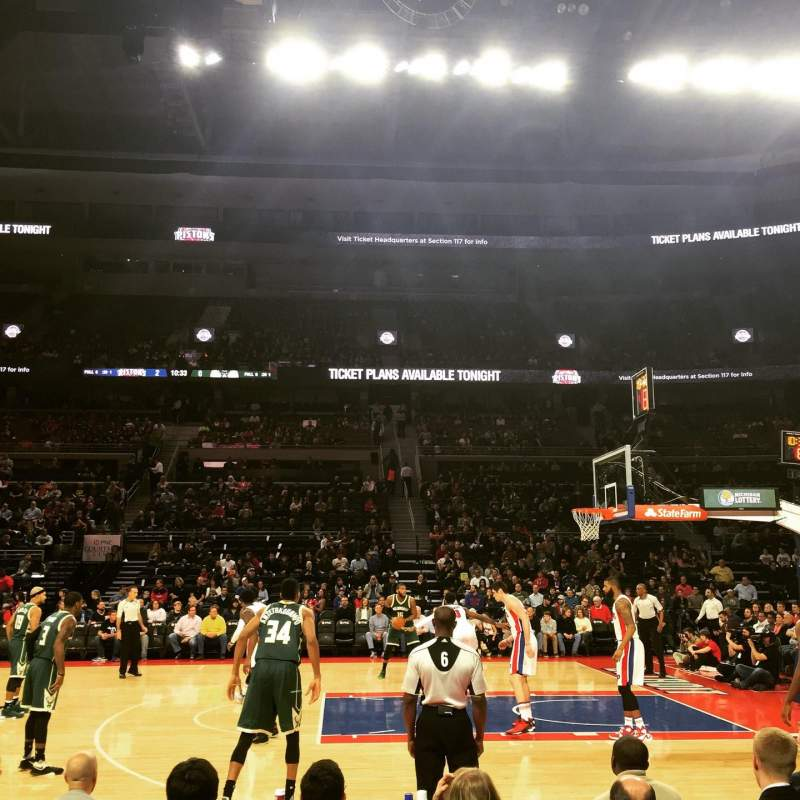 The Palace of Auburn Hills, section: 113, row: BB, seat: 5