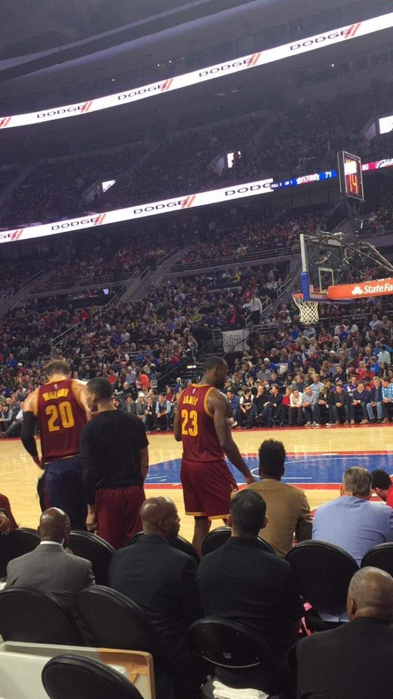 Seating view for The Palace of Auburn Hills Section 112 Row BB Seat 5