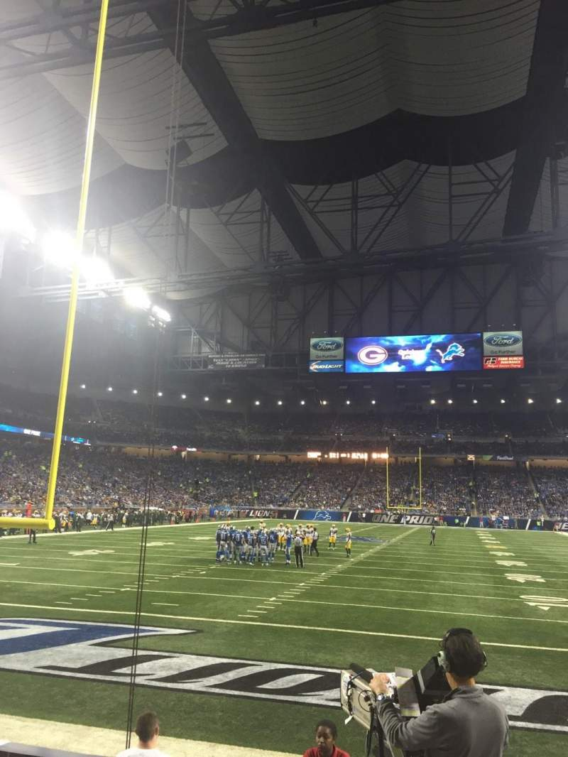 Seating view for Ford Field Section 138 Row 4 Seat 18