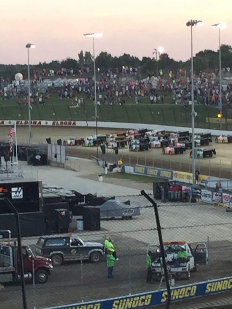 Seating view for Eldora Speedway