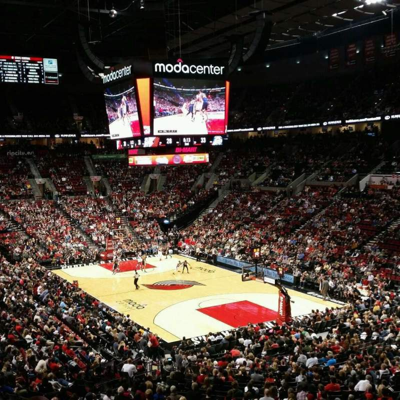 Seating view for Moda Center Section 312 Row O
