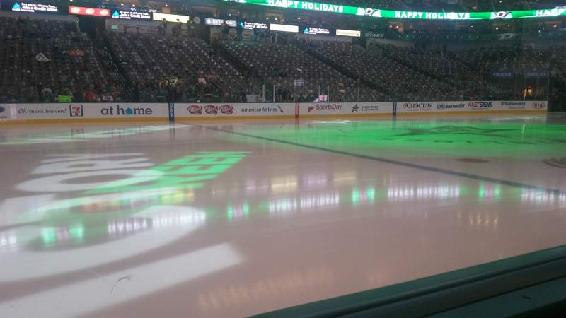 Seating view for American Airlines Center Section 120 Row A Seat 8