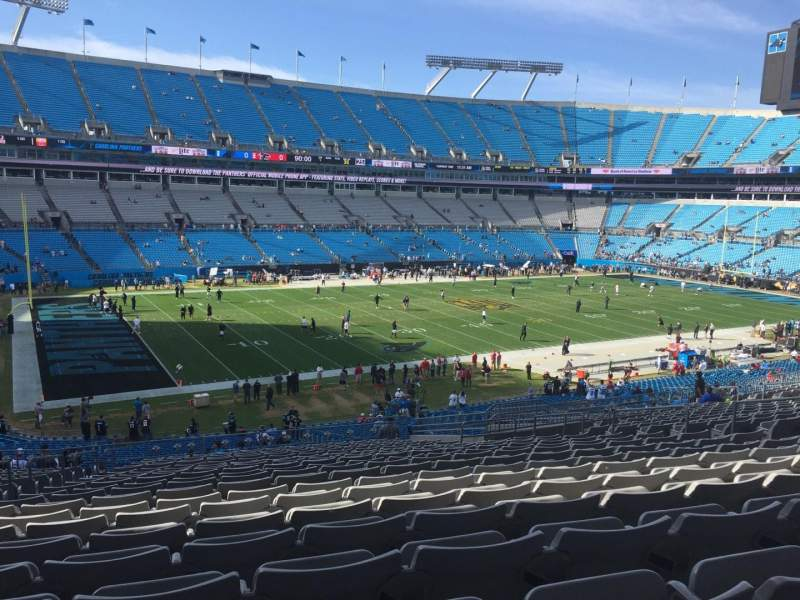 Seating view for Bank of America Stadium Section 320 Row 21 Seat 14