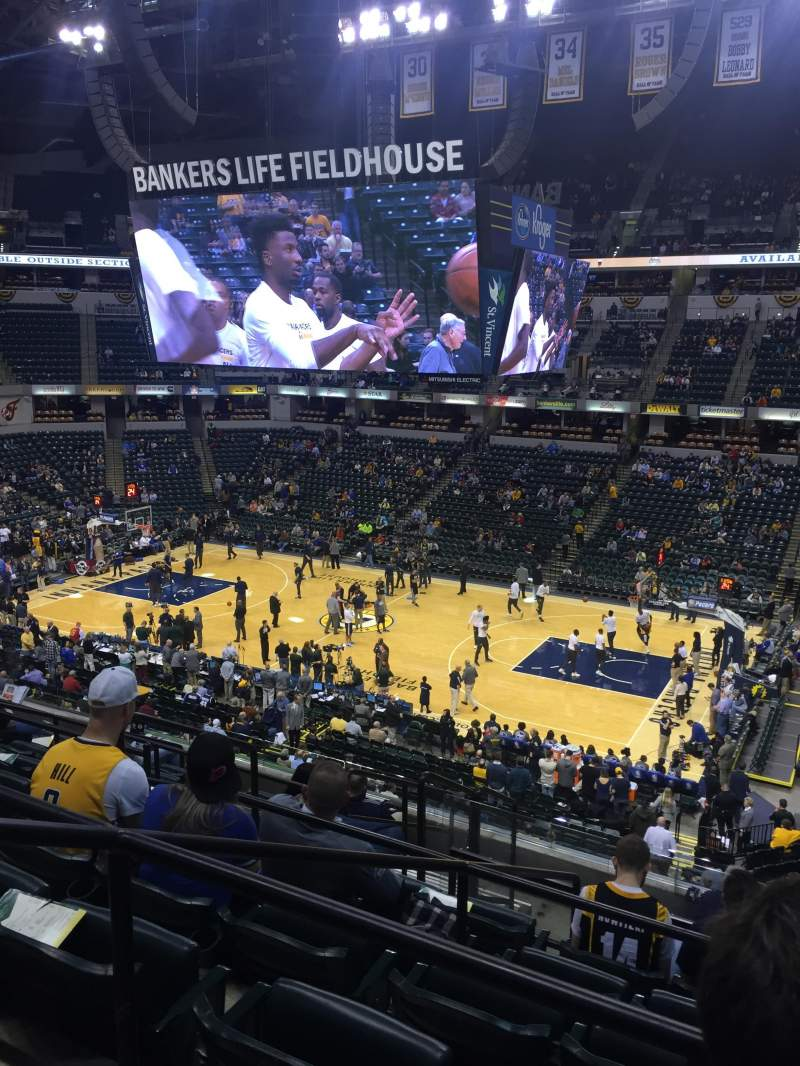 Seating view for Bankers Life Fieldhouse Section 102 Row 9 Seat 10