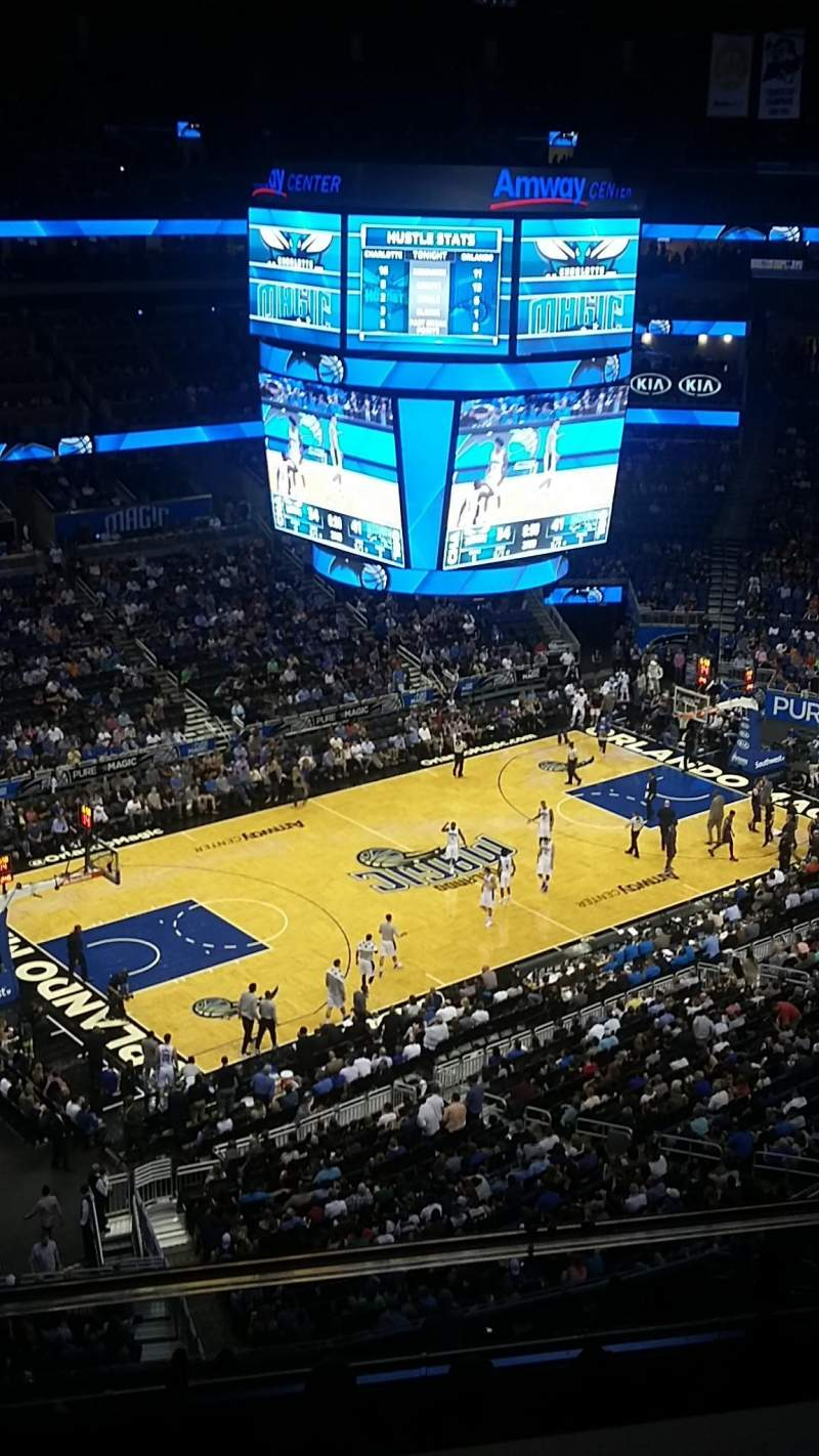 Seating view for Amway Center Section 212 Row 7 Seat 17