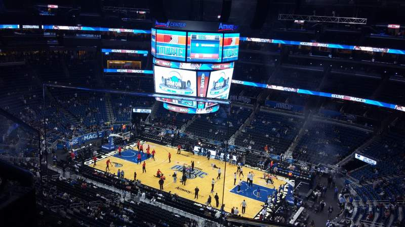 Seating view for Amway Center Section 222 Row 7 Seat 17