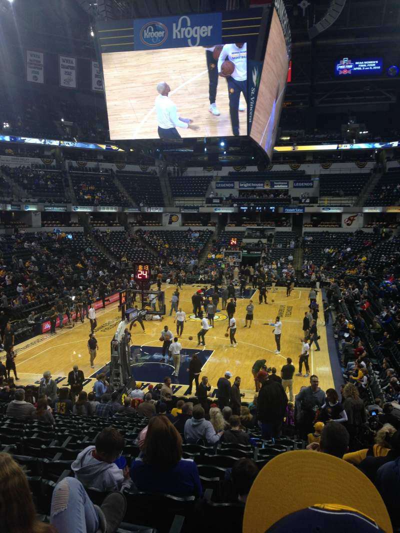 Seating view for Bankers Life Fieldhouse Section 20 Row 20 Seat 3