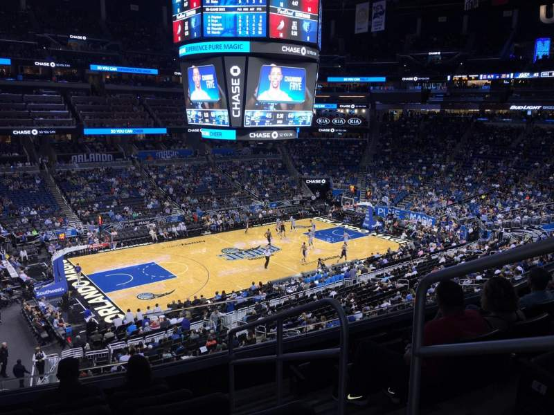 Seating view for Amway Center Section Club F Row 6 Seat 1