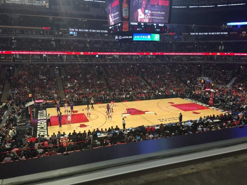 United Center, section: 202, row: 1, seat: 6