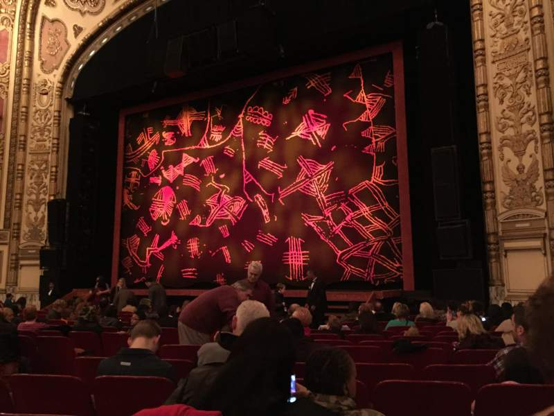 Seating view for Cadillac Palace Theater Section Orchestra Row N Seat 14