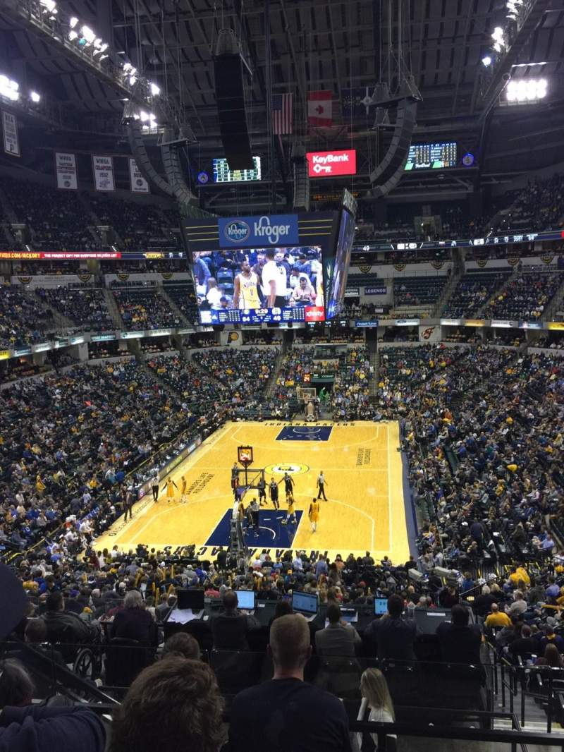 Seating view for Bankers Life Fieldhouse Section 20 Row 33 Seat 20