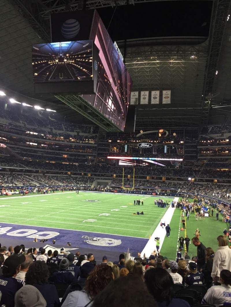 Seating view for AT&T Stadium Section 121 Row 21 Seat 6