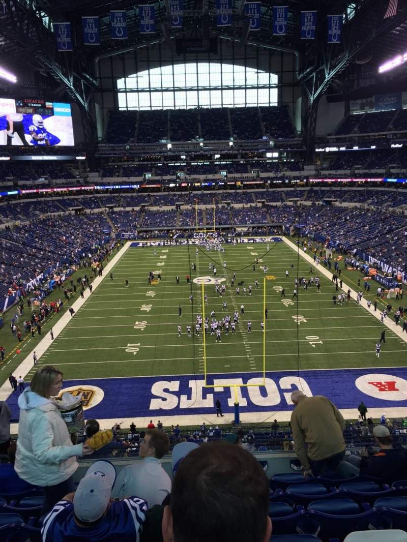 Seating view for Lucas Oil Stadium Section 453 Row 7 Seat 19