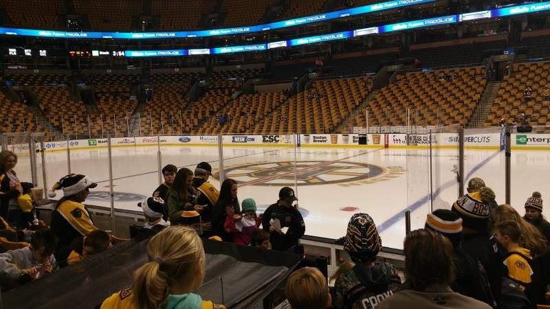 Seating view for TD Garden Section Loge 22 Row 8 Seat 5