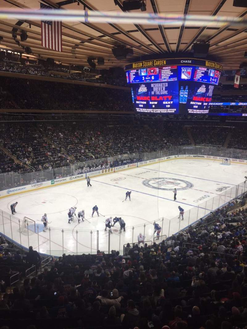 Seating view for Madison Square Garden Section 220 Row 1 Seat 9